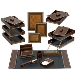 Florentine Leather Desk Set, Brown