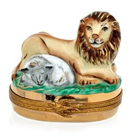 Lion with Lamb Limoges Box