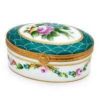 Flower and Scales Oval Limoges Box