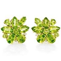 Peridot Starburst Earrings