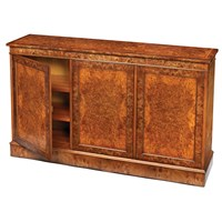 Three-Door Burr Elm Cabinet