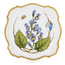 Anna Weatherley Square Canape Plates, Bluebell