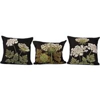 Black Umbels Pillows
