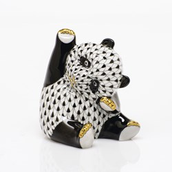 Herend Playful Panda Figurines