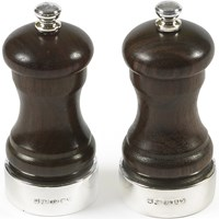 Rosewood Salt & Pepper Mills with Sterling Bands
