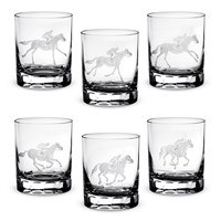 Queen Lace Racehorse Old Fashioned Glasses