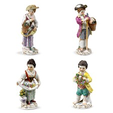 Meissen Gardener Children Figurines