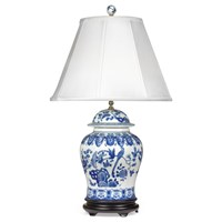 English Jar Lamp, Blue & White