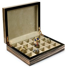 Ebony Cufflink Box