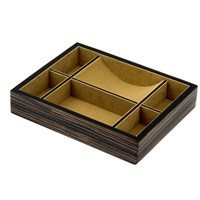 Striped Ebony Wood Dresser Caddy