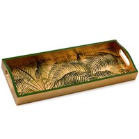 Under the Palms Gold Lacquer Bar Tray