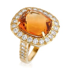 18k Gold & Citrine Cocktail Ring