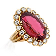 18k Gold & Rubelite Ring