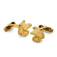 18k Hippopotamus Head Cufflinks