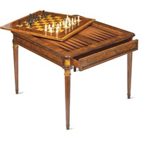 Walnut Rosewood Game Table