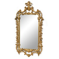 Grand Acanthus Chippendale Mirror, Antique Gold