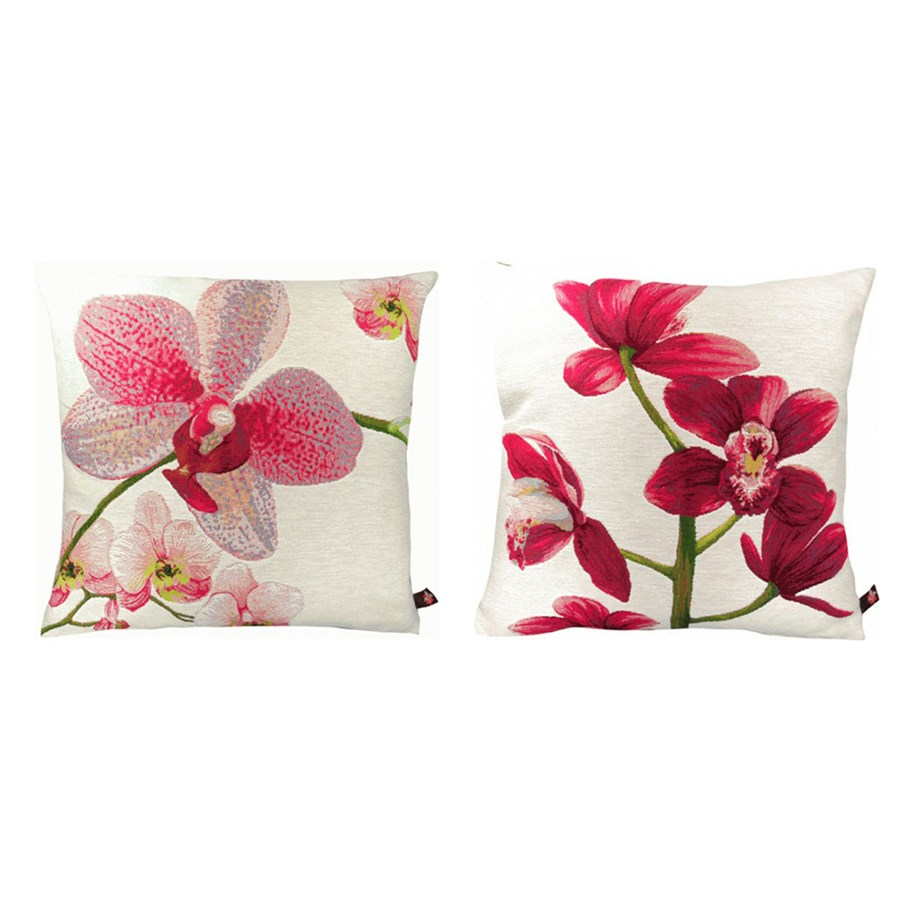Orchid pillows pillows home decor accessories home for Orchid decor