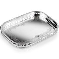 Silverplated Openwork Trays