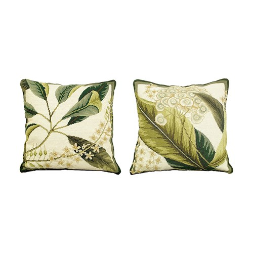 Floral Study Needlepoint Pillows