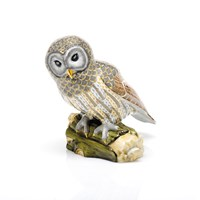 Herend Reserve Collection Gray Barred Owl Figurine