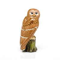 Herend Reserve Collection Brown Barred Owl FIgurine