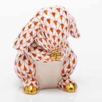 Herend Praying Bunny Figurines