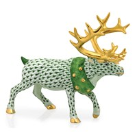 Herend Holiday Reindeer Figurines