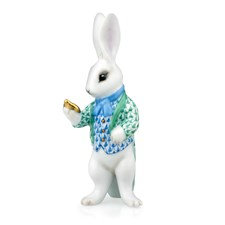 Herend White Rabbit Figurines