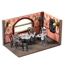 Austrian Bronze Old Cafe with Cats & Dogs