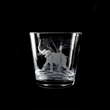 Queen Lace Crystal Ice Bucket with Elephant