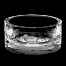 Queen Lace Crystal Wine Coaster, Lion