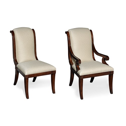 Mahogany Side Chair & Armchair