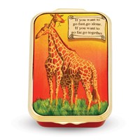 Halcyon Days Giraffes Enamel Box