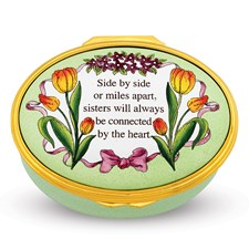 Halcyon Days Side by Side Sisters Enamel Box
