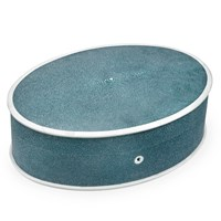 Shagreen Oval Jewelry Boxes