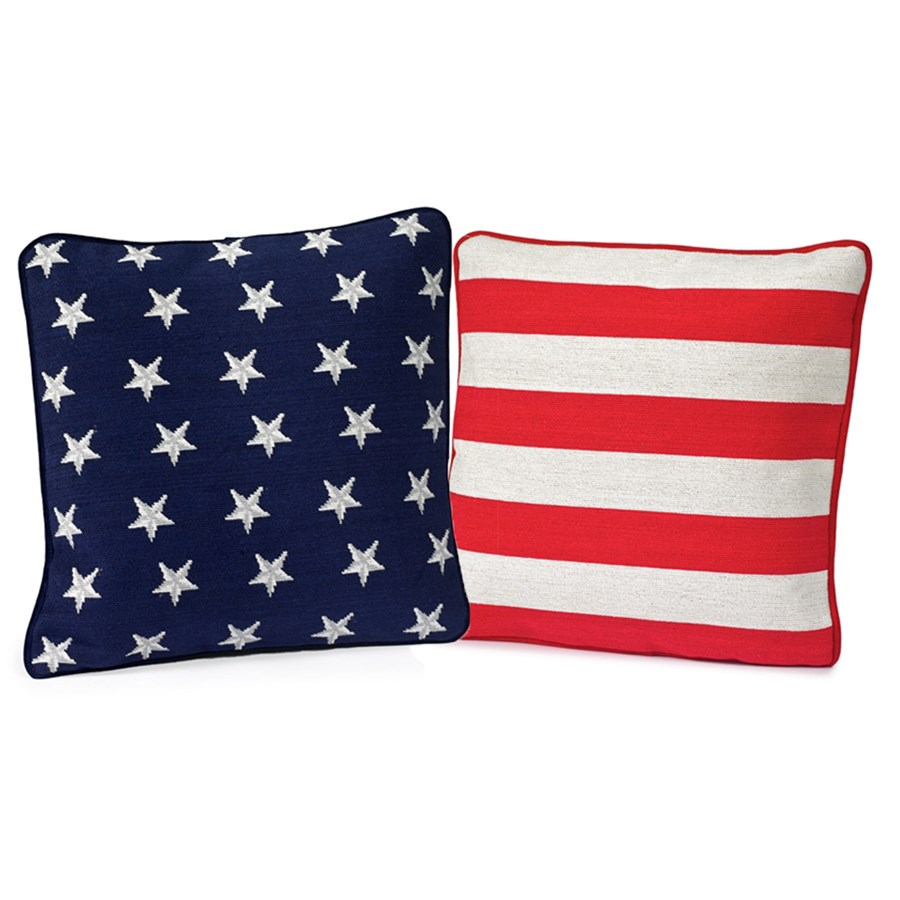 Old Glory American Flag Pillows Set of 2 Pillows Home