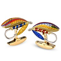 Enamel Fish Fly Cufflinks & Studs
