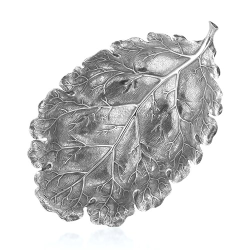 Buccellati Oak Sterling Silver Leaf Dishes