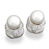 Pearl & Diamond Weave Earrings