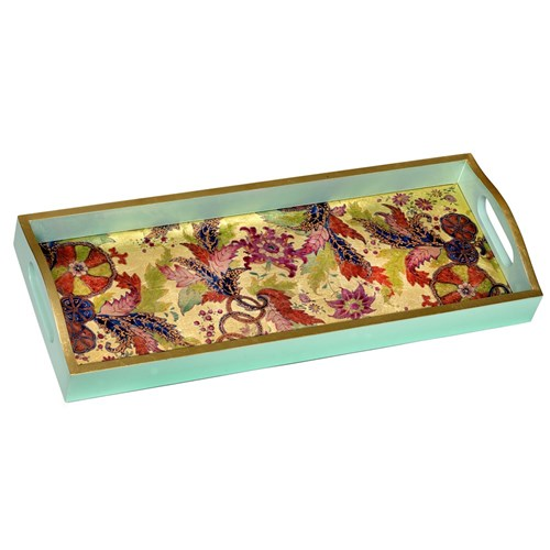 Tobacco Leaf Lacquered Trays