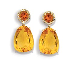 Citrine Brazilian Drop Earrings