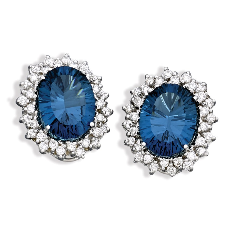 white blue and item gold jewelry kloiber earrings topaz jewelers diamond