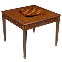 Square Mahogany Game Table