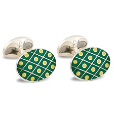 Sterling Silver Dot Cufflinks