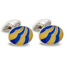 Sterling Silver Wave Cufflinks