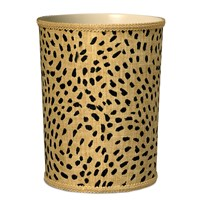 Safari Wastebasket, Pebble Gold