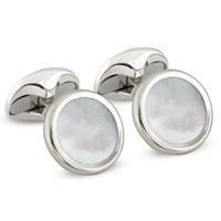 Sterling Silver Mother of Pearl Cufflinks & Studs