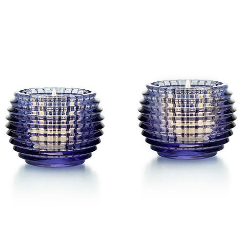 Baccarat Eye Votives, Blue - Set of 2