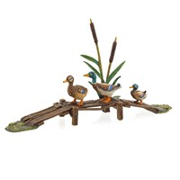 Austrian Bronze Ducks Crossing Bridge Figurine