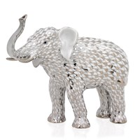 Herend Elephant Platinum Figurine